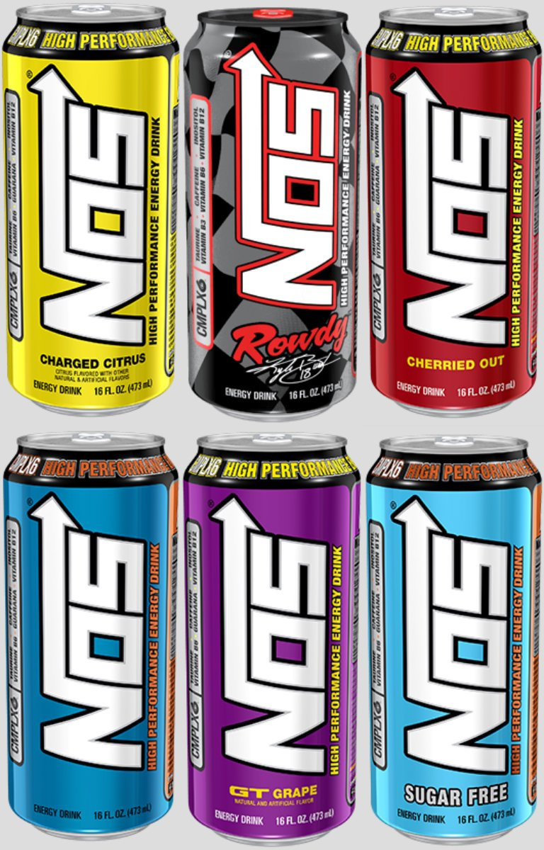 Nos High Performance Energy Drinks Oz Original