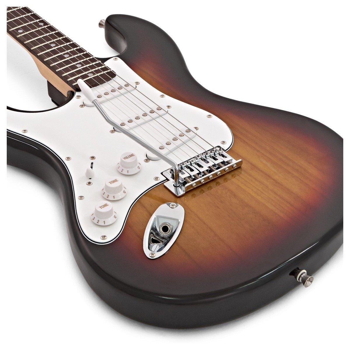 LA Left Handed Electric Guitar by Gear4music Sunburst: Amazon.es ...