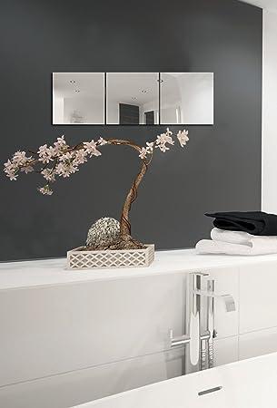Amazing MSV Spiegel Spiegelfliesen Wandspiegel Fliesenspiegel Selbstklebend 3 Stück    30x30cm