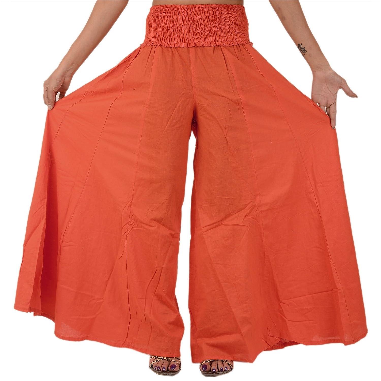 Skirts 'N Scarves Women's Cotton Long Plazzo Pant/Trouser.