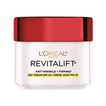 Amazon.com: Face Moisturizer with SPF 25 by L'Oreal Paris, Revitalift  Anti-Aging Face Moisturizer with Pro-Retinol and Centella Asiatica, Paraben  Free, Suitable for Sensitive Skin, 2.55 oz. (Packaging May Vary): Beauty