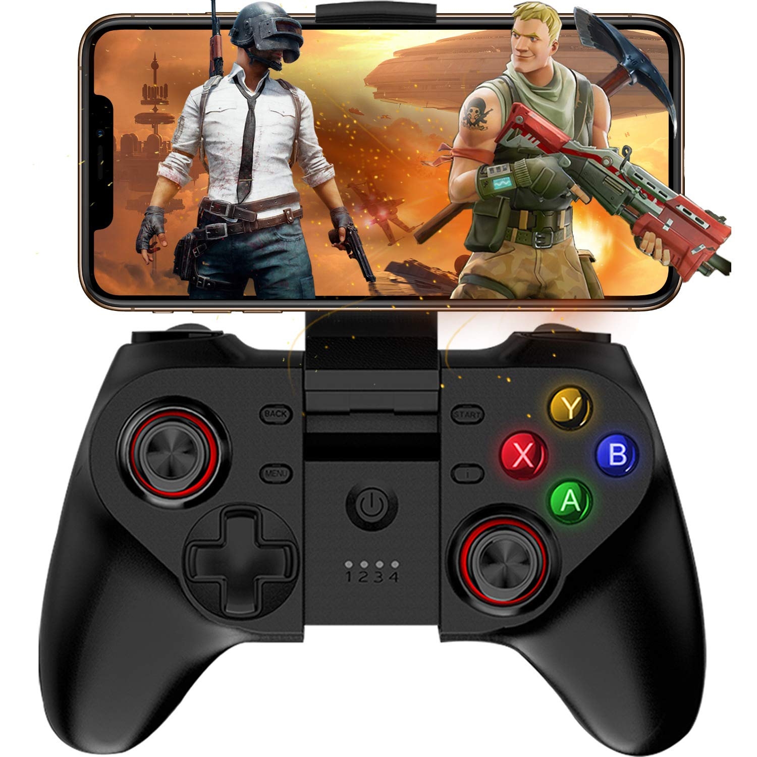 Mobile Game Controller, Megadream Wireless Key Mapping Gamepad Joystick Perfect for PUBG & Fotnite & More, Compatible for iOS Android iPhone iPad Samsung Galaxy Other Phone & Tablet PC - Direct Play