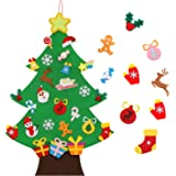 TOBEHIGHER Felt Christmas Tree - 3.6 FT 3D DIY Set for Kids with 33 Pieces of Ornament Decor, Wall Hanging Christmas…