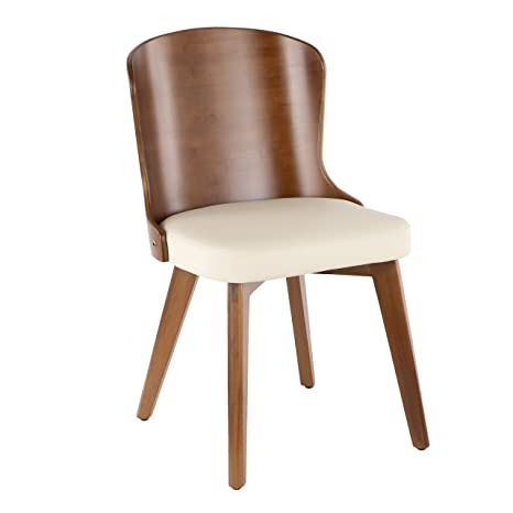 Awesome Amazon Com Lumisource Bamboo Chair In Walnut And Cream Lamtechconsult Wood Chair Design Ideas Lamtechconsultcom