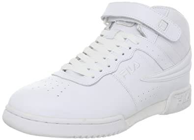 fila high top sneakers. fila men\u0027s f-13 sneaker,triple white synthetic and fabric,6.5 high top sneakers