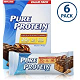 Pure Protein Bars, Healthy Low Carb Snacks, Chocolate Peanut Caramel, 1.76 oz, 6 Count