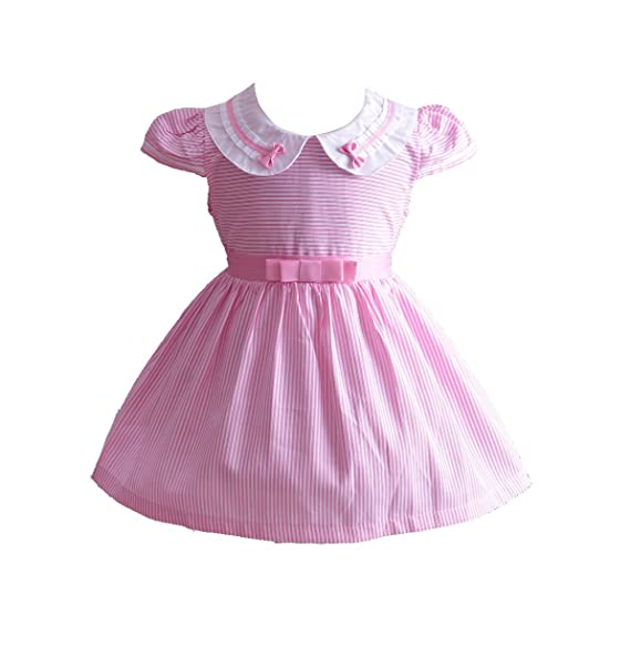 0c9c0d9e4930 Image Unavailable. Image not available for. Color: Cinda Girls Striped Party  Dress Pink 12-18 Months