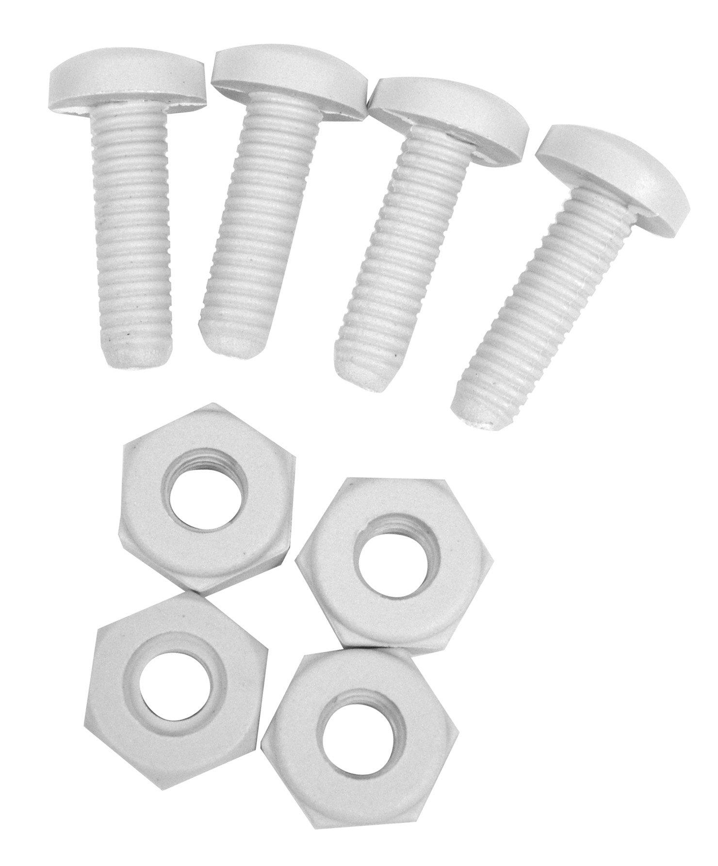 Custom Accessories 93332 White Nylon License Plate Fastener