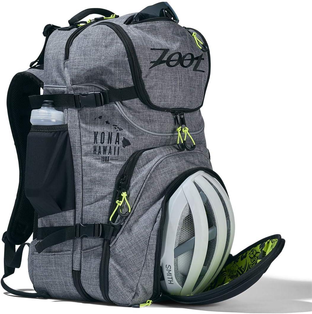 Zoot Unisex Tri Bag Bolsa Grande de triatl/ón con Bolsillo para el Casco y Bolsillo para mojar para el Entrenamiento y la competici/ón en dise/ño Canvas Gris