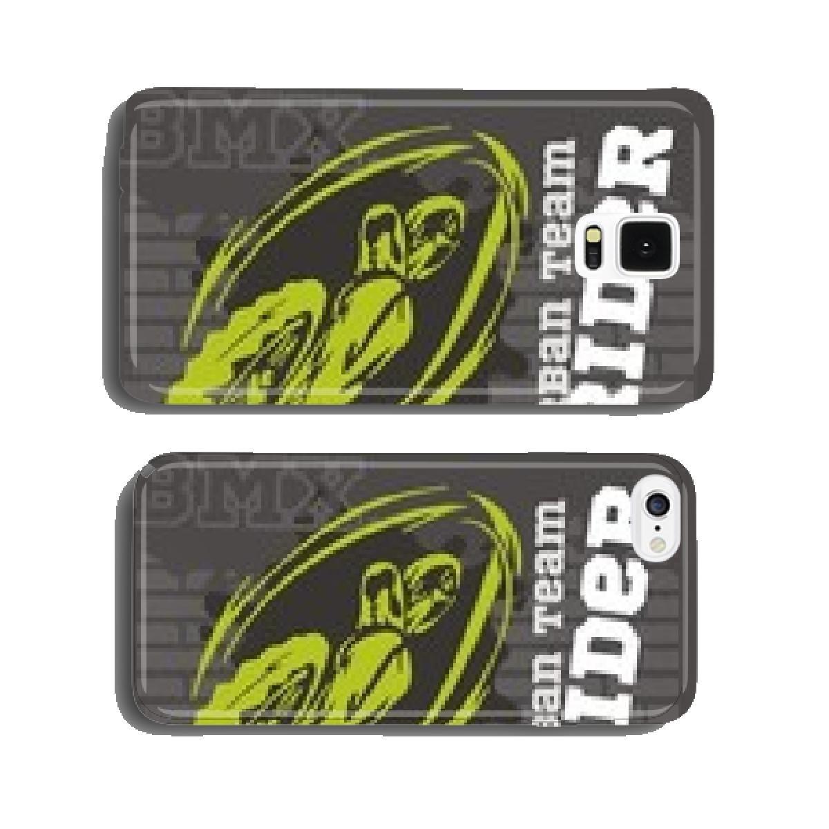 BMX rider - urban team. Vector design. cell phone cover case ...