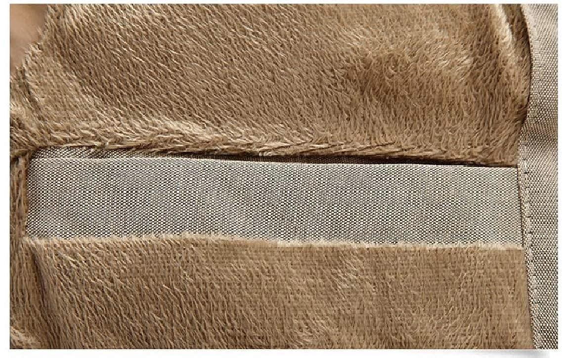 LinkShow Mens Plus Velvet Relaxed-Fit Thickening Hooded Jacket