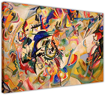Kandinsky Abstract Art Painting Canvas Tote Bag 16x16 inch Book Gym Bag