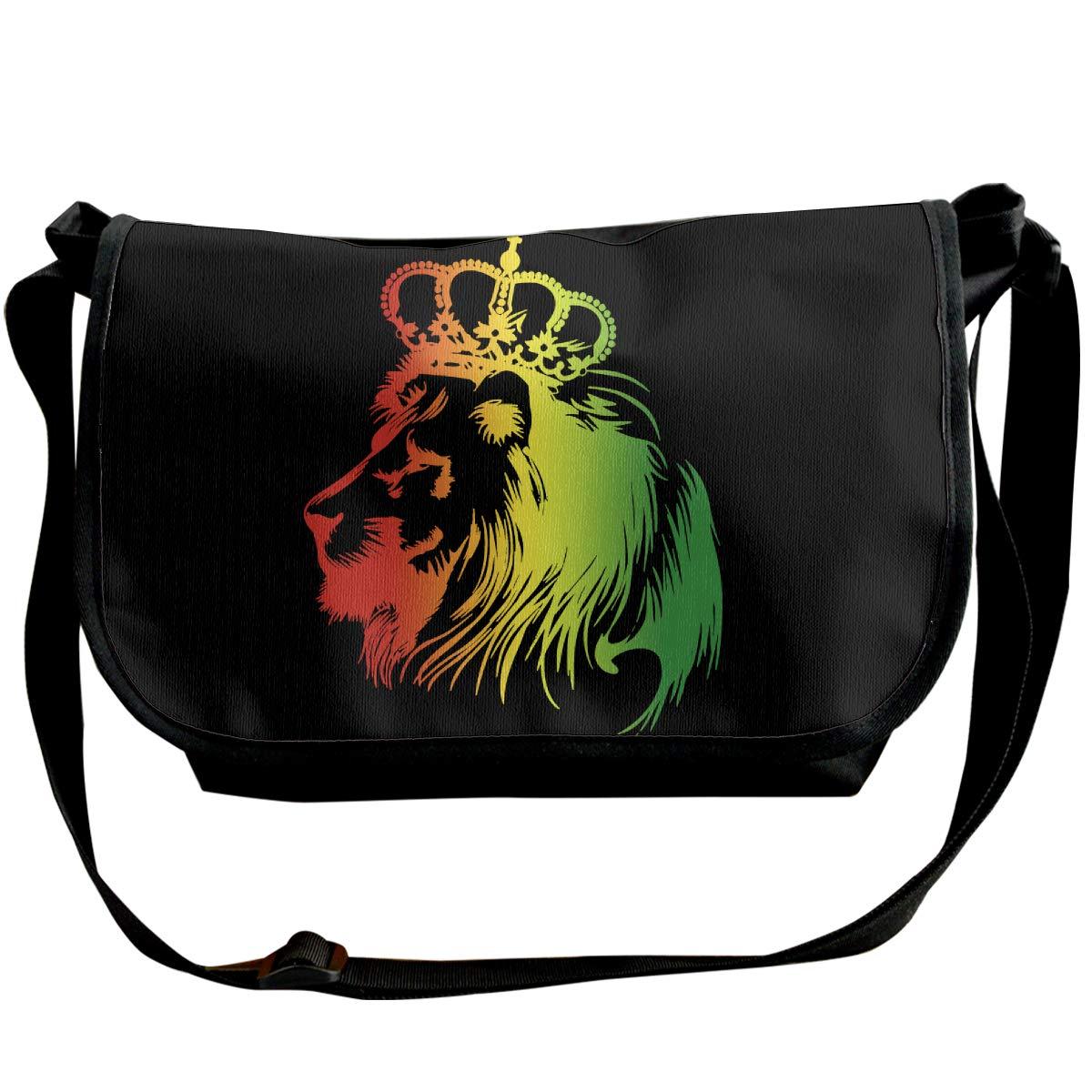 Futong Huaxia Rasta Lion Travel Messenger Bags Handbag Shoulder Bag Crossbody Bag Unisex