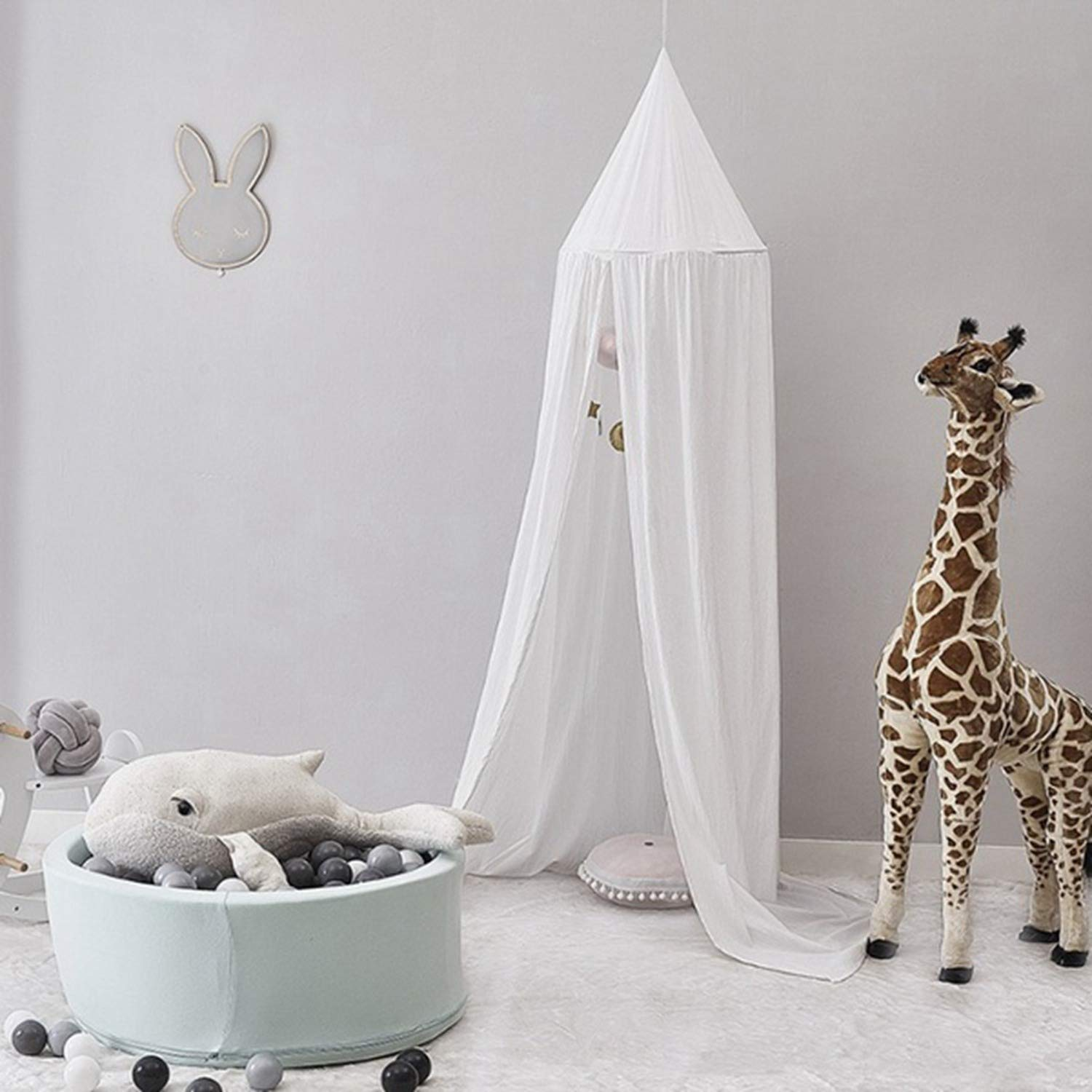 Xigeapg Bed Canopy Baby Net Chiffon Curtain Bedding Dome Tent,White