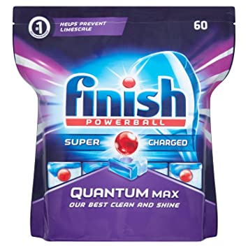 Superbe Finish Dishwasher Tablets Quantum Max, 60 Tablets