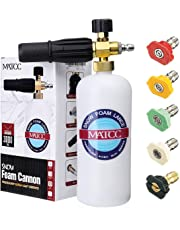 MATCC Foam Cannon Upgraded Foam Nozzle Pressure Washer Jet Wash Snow Foam Lance with 1/4'' Quick Connector Foam 5 Pressure Washer Nozzle Tips for Cleaning