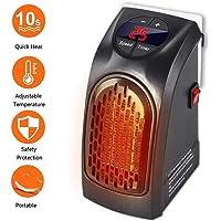 Fast Heater - portable et puissant mini Chauffage Avec Technologie Thermo en céramique pour la prise 350 Watts Basse Consommation TV Publicité … (Noir)