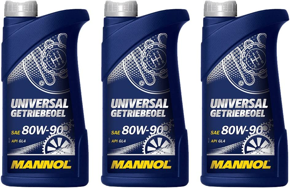 Mannol 3 X 1l Universal Getriebeoel 80w 90 Gl 4 Schaltgetriebeöl Auto