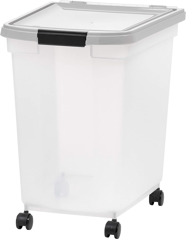 IRIS USA, Inc. 65 Quart Airtight Pet Food Container, Gray