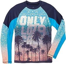 OFFCORSS Big Boy Long Sleeve Surf Rashguard Swimsuit Shirt | Trajes de Baño Niño