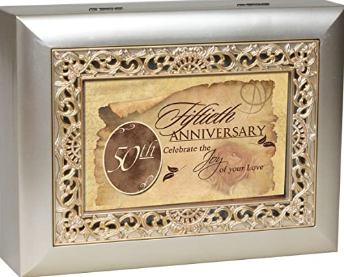 Cottage Garden Music Box 50Th Anniversary Plays Unchained Melody With Ornate Champaign Silver Finish