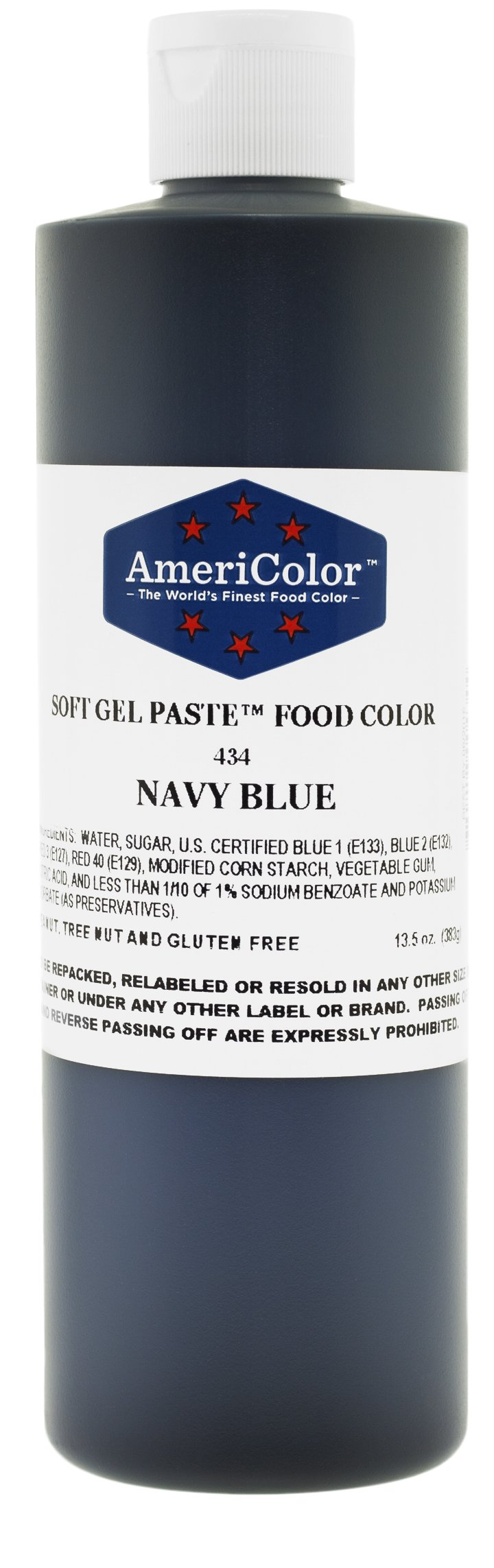 AmeriColor Food Coloring, Navy Blue Soft Gel Paste, 13.5 Ounce
