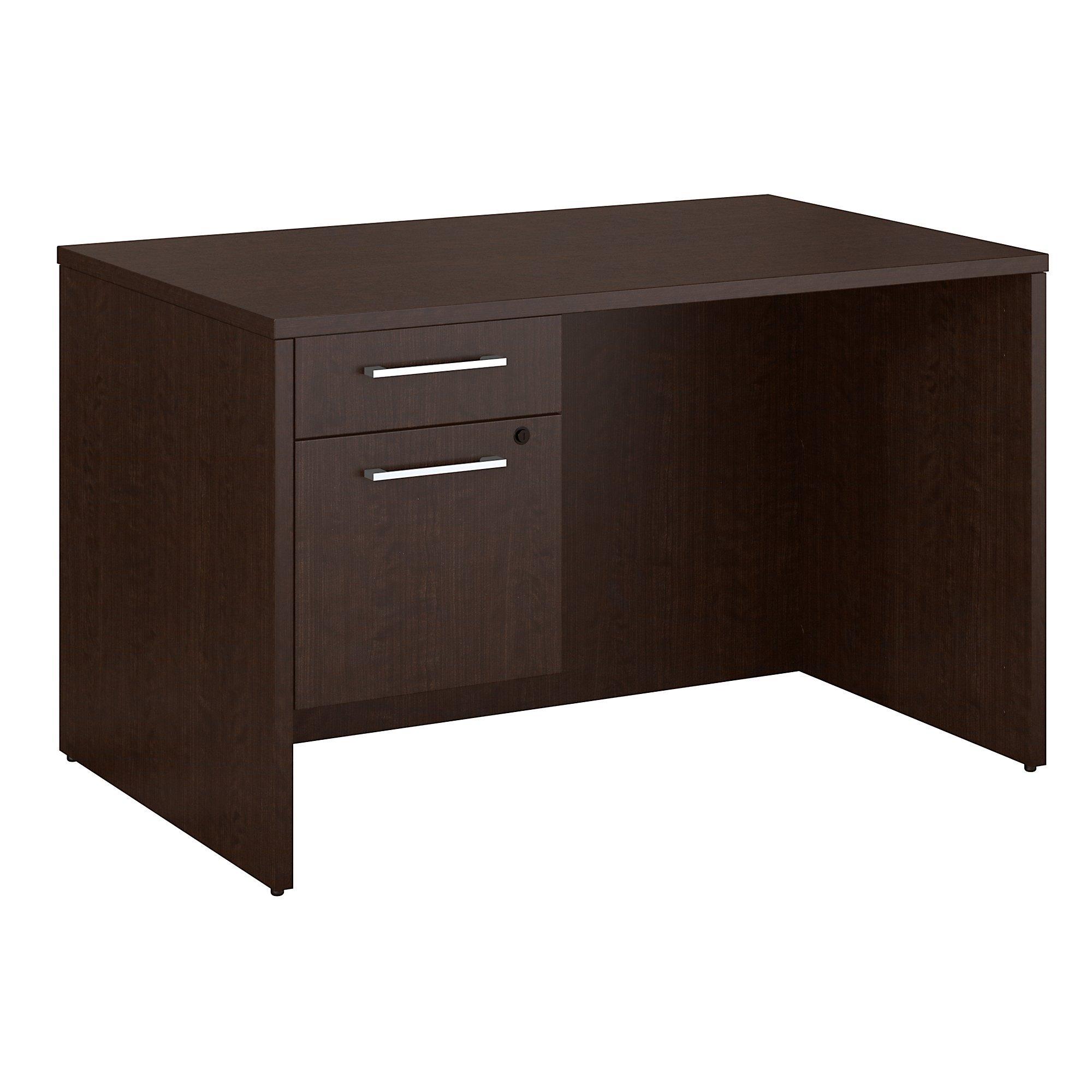 Bush Business Furniture Desk with Pedestal 300S092MR, Mocha Cherry