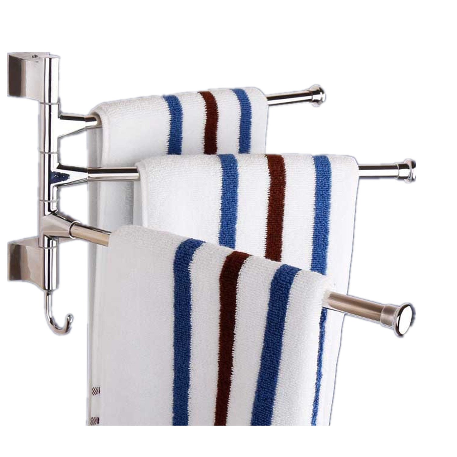 Kitchen Towel Hooks For Towels: Well-wreapped Wall Mounted Towel Rack Stainless Steel