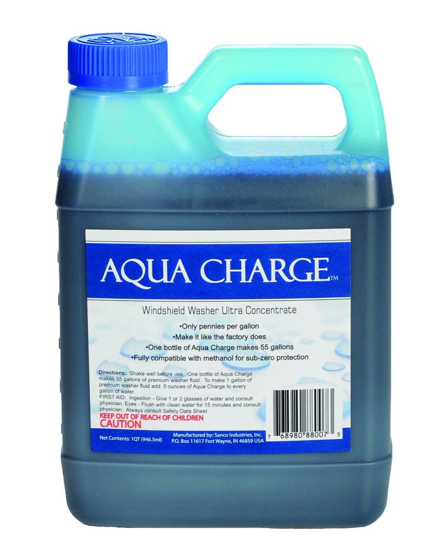 水充挡风玻璃清洗机Ultra浓缩液,1夸脱制成55加仑成品