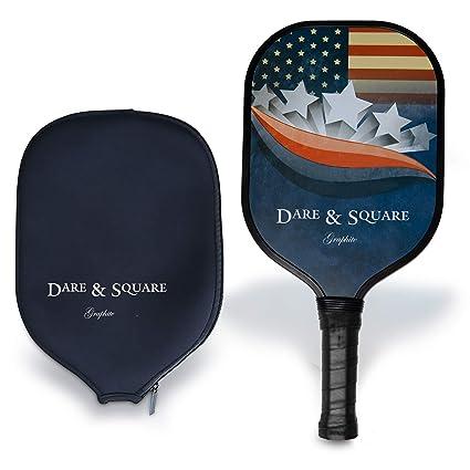 Amazon.com : Dare & Square US Flag Light Graphite Pickleball ...
