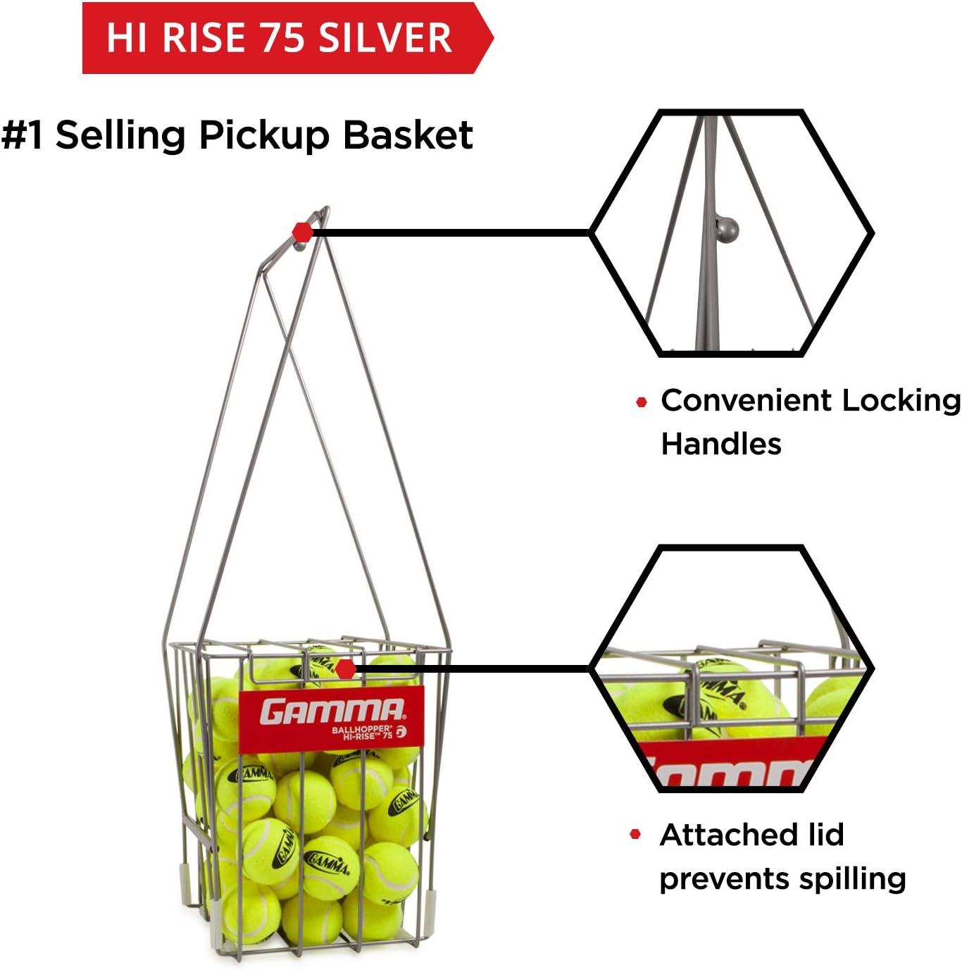 f/ür Tennis Ball Pickup praktisch robuste Konstruktion GAMMA Sport Tennis ballhoppers/ /langlebig Transport und Aufbewahrung, verschiedene Designs//Kapazit/äten zu halten 50, 55, 75, 90, 110, 140/B/älle