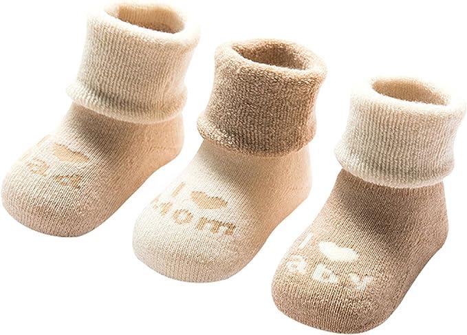 3 X Calcetines del Bebé 0-3 meses