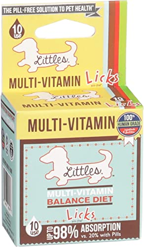 Licks – Little Dog Vitamins and Supplements – Dog Multi-Vitamin Supplements – LiquiPaks – 10 Use