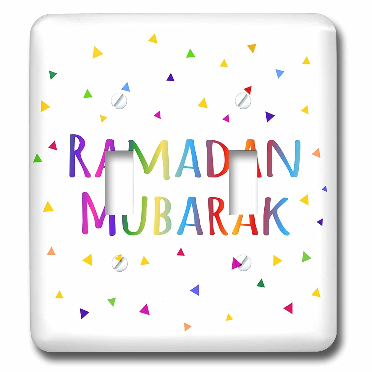 3dRose lsp/_202099/_2Ramadan Mubarak blessing for the start of Muslim fasting festival Double Toggle Switch