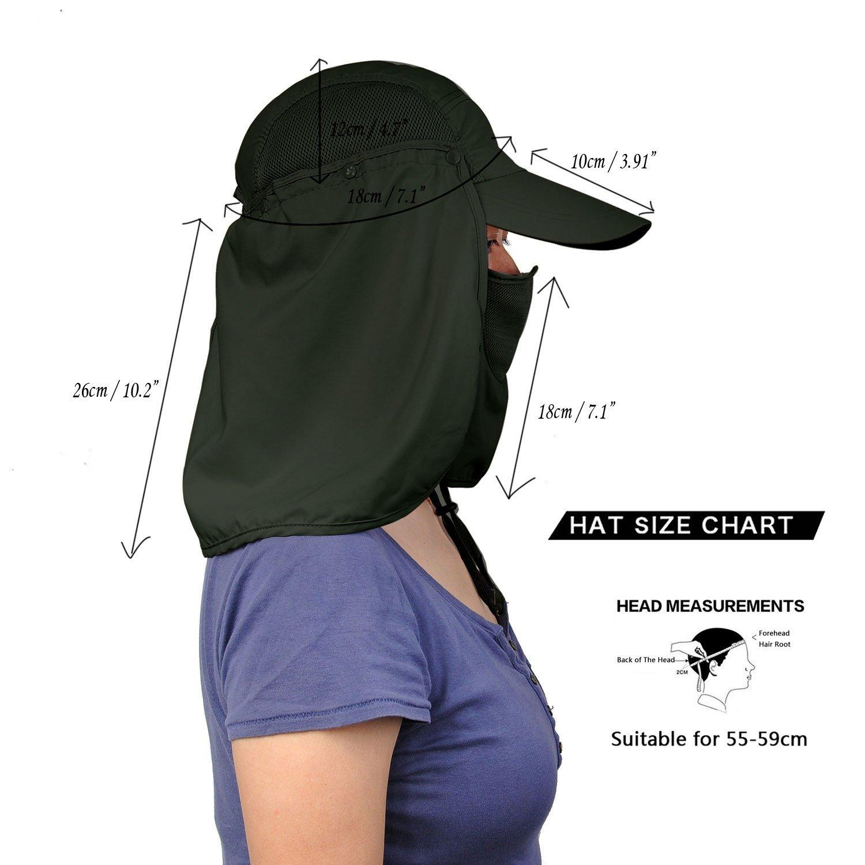 Amazon.com   Jormatt Women   Men Outdoor Sun Hat Fishing Hiking Running  Gardening Hat with Face Neck Flap Protection Cover Removable Summer UPF 50+  Folding ... 6d04b59ef511
