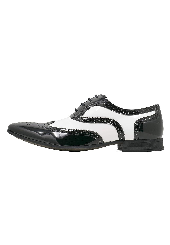 TALLA 41 EU. Smokies Hombres Zapato de Novia George Zapatos clásicos de Laca para Smoking (EU,)