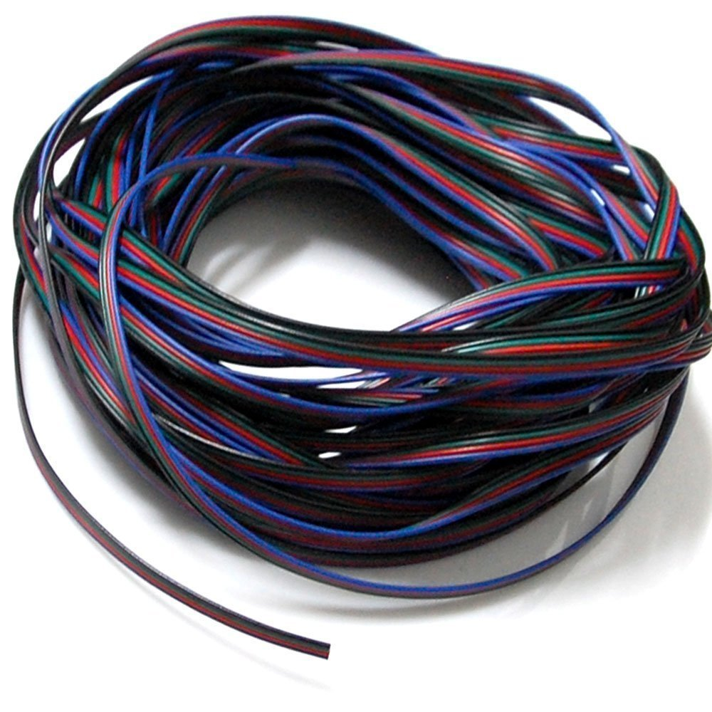 JACKYLED RGB Extension Cable Line 4 Color 10m for LED Strip RGB 5050 3528 Cord 4pin