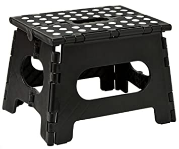 Folding Step Stool - 11u0026quot; Wide - The Lightweight Step Stool is Sturdy Enough to  sc 1 st  Amazon.com & Amazon.com: Folding Step Stool - 11