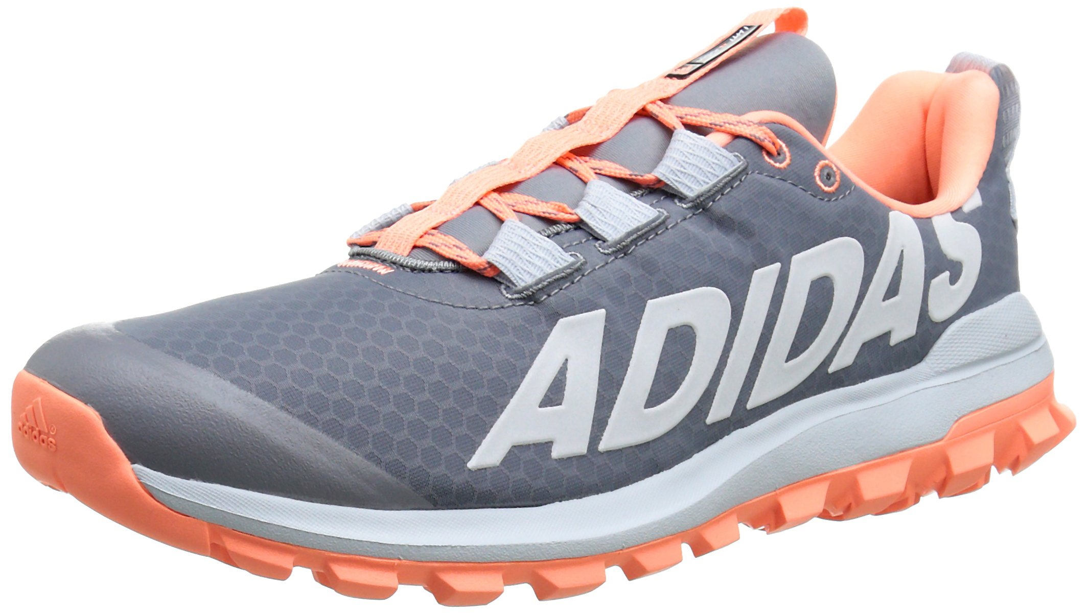 adidas Performance Women's Vigor 6 Women's Trail Running Shoe,Grey/Sun Glow Yellow/Blue,7 M US