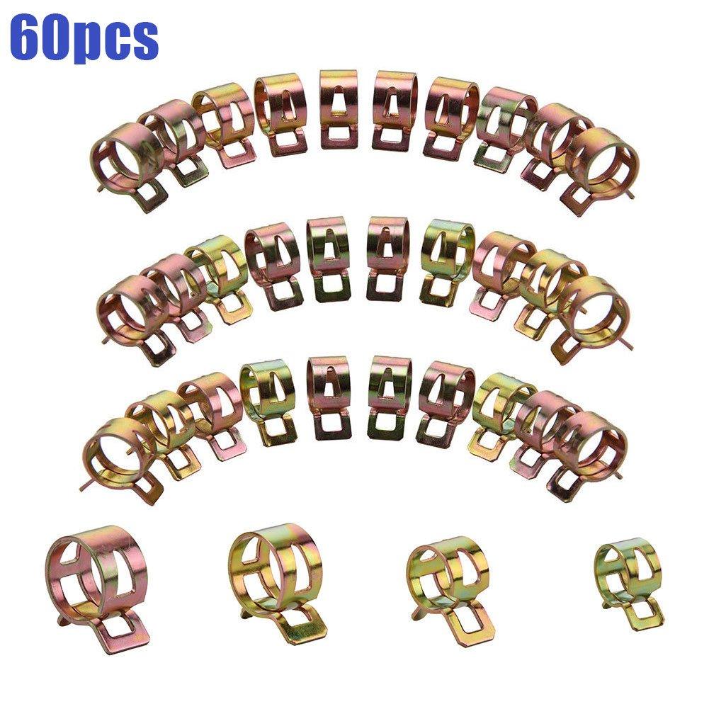symboat 60pcs/set de pinzas de manguera de gasolina tubos Pinzas Pinzas Clips Kits 6/9/10/12/14/15 mm