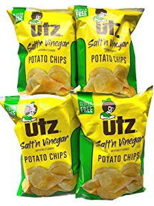 UTZ Quality Foods Salt'n Vinegar Potato Chips 2.875 oz - Pack of 4