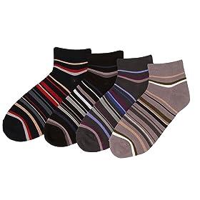 (フランコ コレツィオーニ)Franco Collezioni メンズボーダー靴下4足組 HL-1S055W