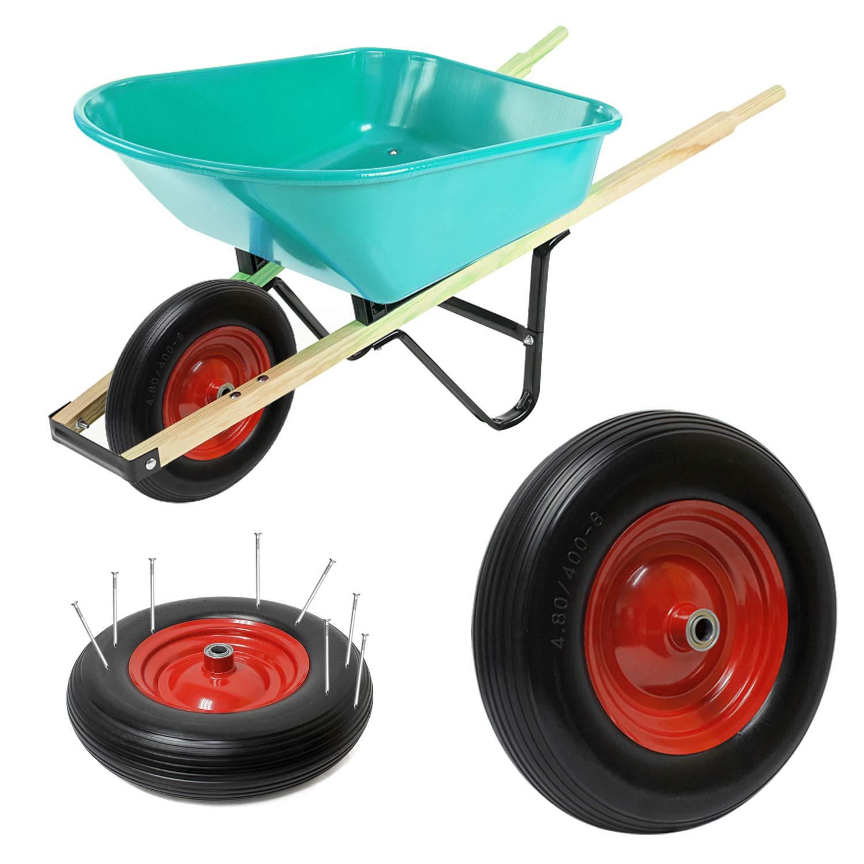 Forever Speed 4.00-8 PU Carretilla de rueda a prueba de perforaciones de la rueda del camión de la mano del caucho de sólida Max.200kg: Amazon.es: Bricolaje ...