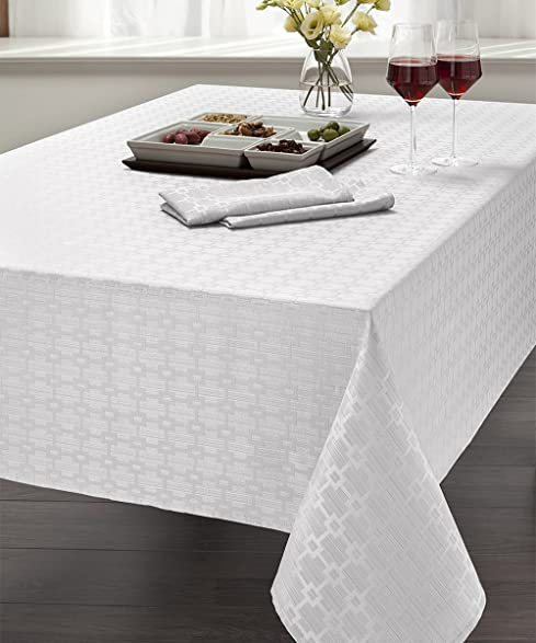 Marvelous Elegant Chandler Collection Spill Proof Microfiber Tablecloth, 52u0026quot; ...