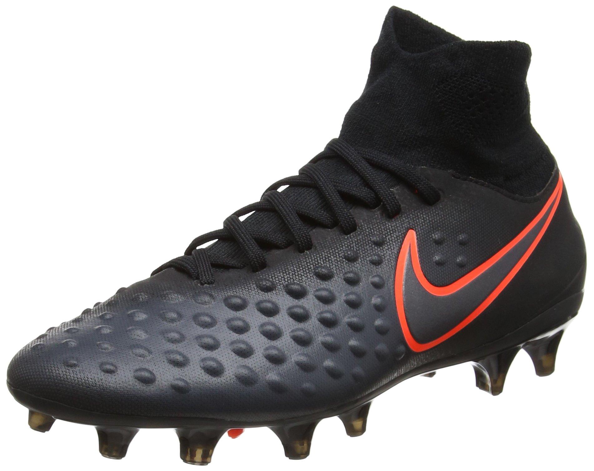 Nike Kids Magista Obra II FG Black/Total Crimson Shoes - 4.5Y