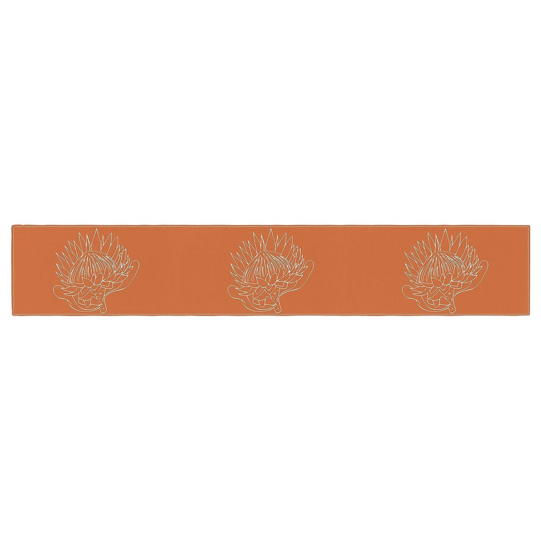 16 x 180 KESS InHouse Anneline Sophia Simpley Protea Orange Table Runner