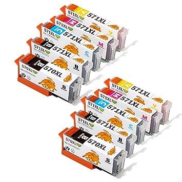 Abcs Printing Compatible para Canon PGI570XL CLI571XL Cartuchos de ...