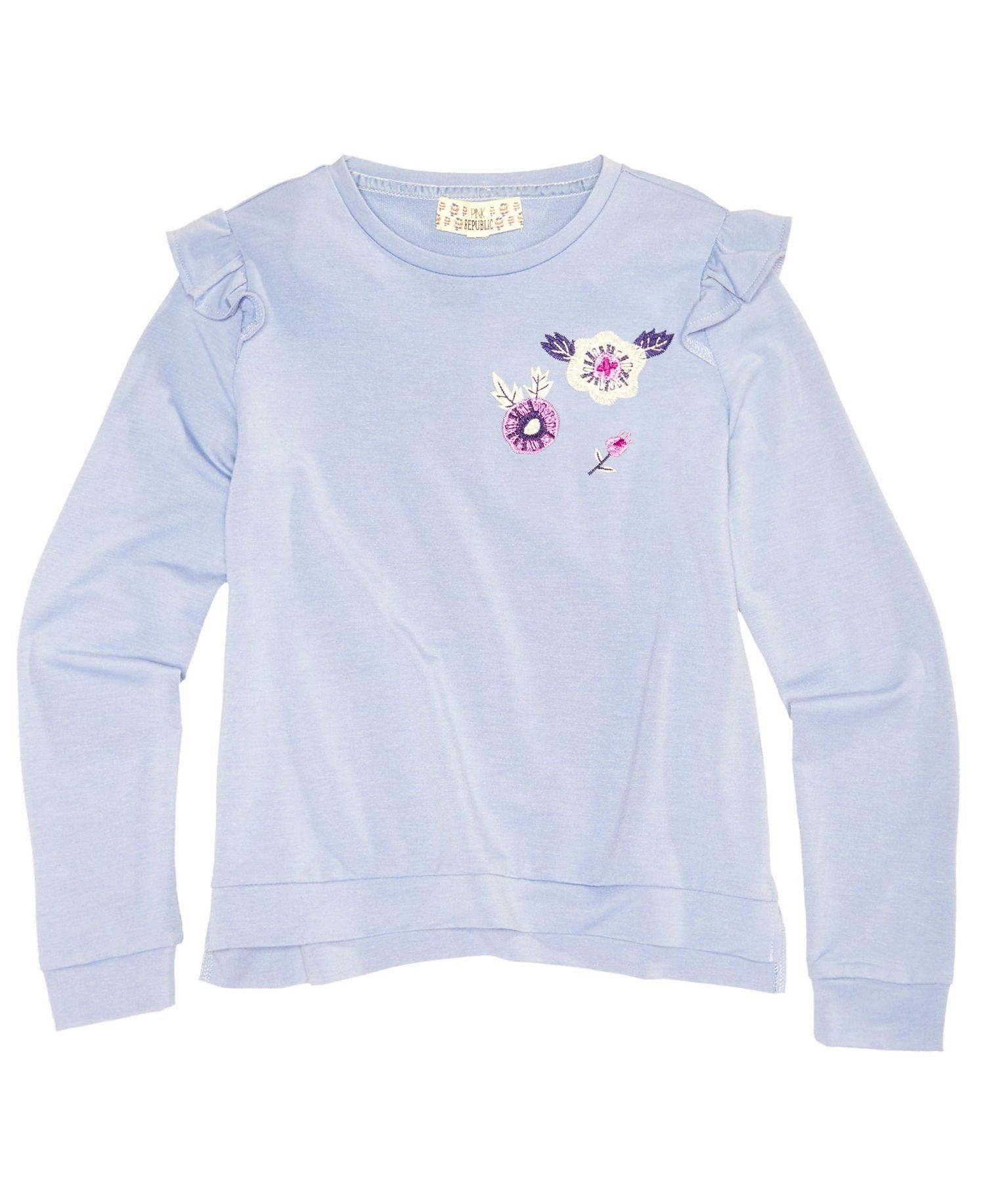 Pink Republic Girls Pullover Shirt (Medium, Powder Haze)