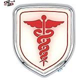 S2S® 3D Metal Chrome Sticker Emblem Badge Logo For Cars & Bikes (DOCTOR)