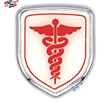 S2S® 3D Metal Chrome Sticker Emblem Badge Logo For Cars & Bikes (DOCTOR)